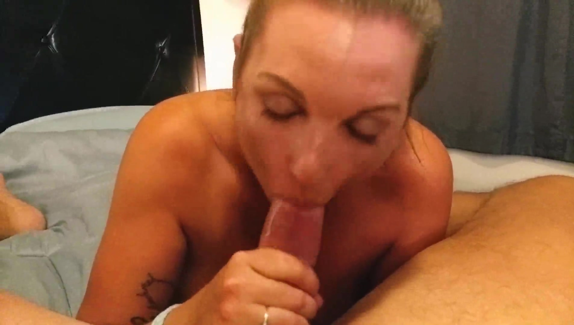 Cum Dripping Into Mouth